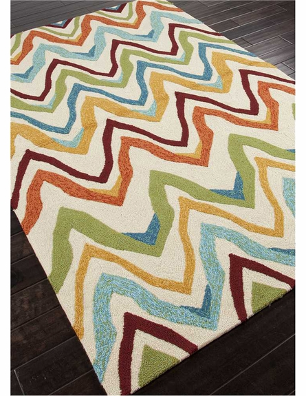 Bahia Chevron Rug in Dark Ivory