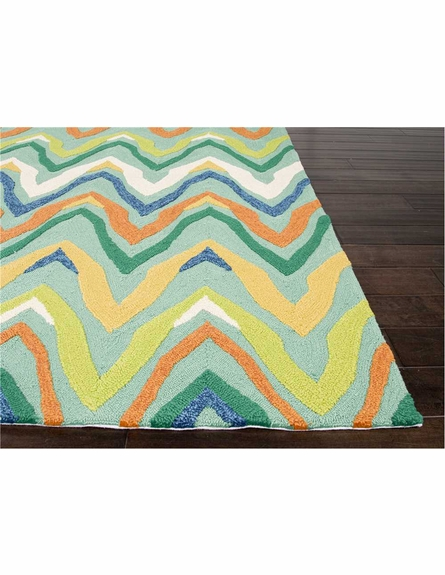 Bahia Chevron Rug in Green