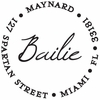 Bailie Personalized Self-Inking Stamp