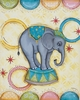 Balancing Circus Elephant Canvas Reproduction