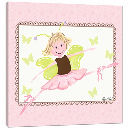 Ballerina Canvas Reproduction in Brown