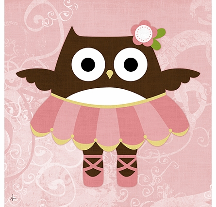 Ballerina Owl I Canvas Reproduction