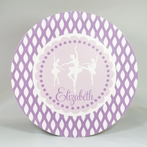 Ballerina Personalized 3-Piece Dinnerware Set