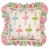 Ballerina Throw Pillow - Square