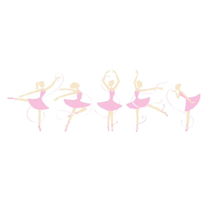ballerinas paint by number wall mural by elephants on the wall wall mural ballerina ballerina graphic pixersize com