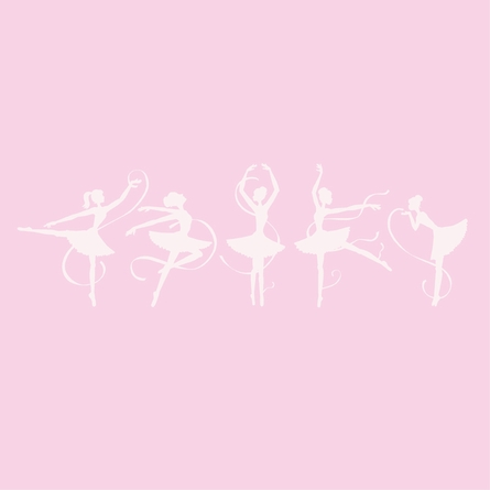 Ballerinas Paint by Number Wall Mural