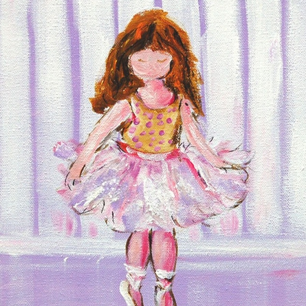 Ballet Class Ballerina Hand Painted Canvas