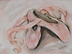 Ballet Pink Pointe II Framed Art