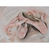 Ballet Pink Pointe II Stretched Canvas Art