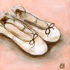 Ballet Slippers Canvas Reproduction