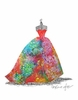 Ballgown Fruit Punch Canvas Wall Art