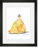 Ballgown Sunburst Framed Art Print