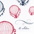 Balloon Festival Personalized Fabric Placemat - Set of 4