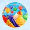 Ballooning Canvas Reproduction