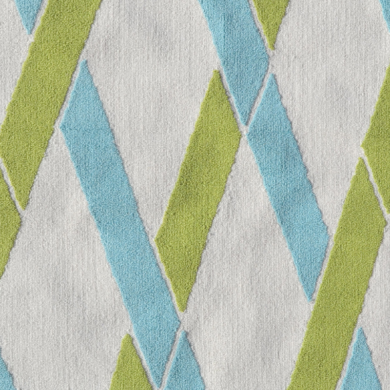 Bamboo Green And Blue Rug By POP Accents
