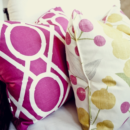 Bamboo Raspberry Throw Pillow