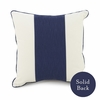 Banded Square Pillow in Cobalt Blue
