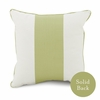 Banded Square Pillow in Spring Green