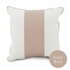 Banded Square Throw Pillow in Blush