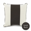 Banded Square Throw Pillow in Tree Trunk Brown