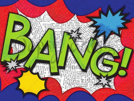 Bang! Canvas Wall Art