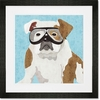 Barkley & Wagz - Bulldog Framed Art Print