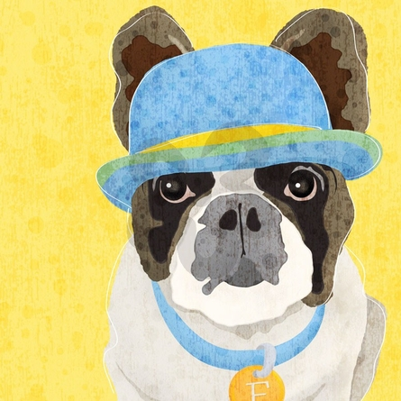 Barkley & Wagz - French Bulldog Canvas Wall Art