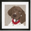 Barkley & Wagz - German Shorthaired Pointer Framed Art Print