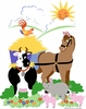 Barnyard Friends Paint by Number Wall Mural