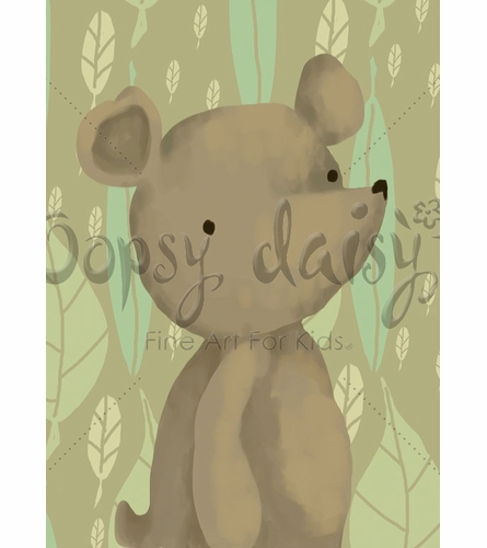 Barrington Bear Canvas Wall Art