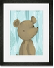 Barrington the Bear Blue Framed Art Print
