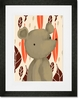 Barrington the Bear Orange Framed Art Print