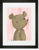 Barrington the Bear Pink Framed Art Print