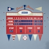 Baseball Athlete Scoreboard Peel & Place Wall Stickers