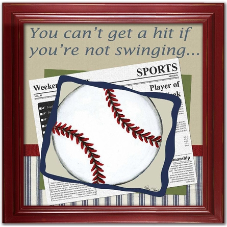 Baseball in the News Canvas Reproduction