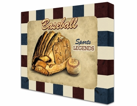Baseball Legends Canvas Reproduction