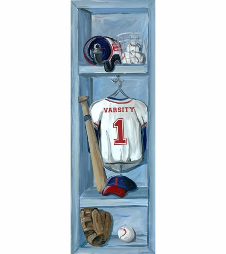 Baseball Lockers Canvas Wall Art
