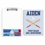Baseball Personalized Clipboard and Notebook Set