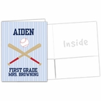 Baseball Personalized Folders - Set of 5