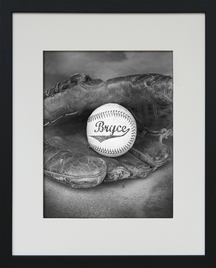 Baseball Personalized Framed Art Print