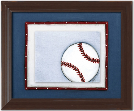 Baseball Personalized Framed Canvas Reproduction