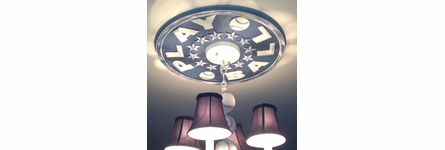 Baseball Play Ball Round Chandelier Medallion