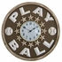 Baseball Play Ball Round Wall Clock