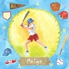 Baseball Star - Girl Canvas Wall Art