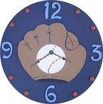 Baseball Wall Clock - Navy