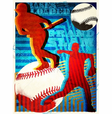Bases Loaded Canvas Wall Art