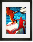Bases Loaded Framed Art Print