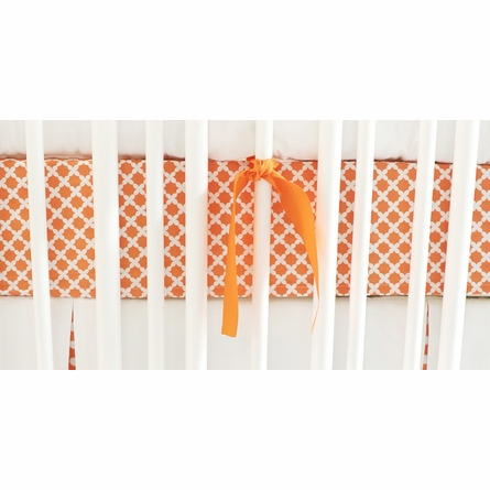 Basket Weave in Tangerine Crib Sheet