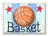 Basketball Basket Wall Plaque
