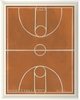 Basketball Court Framed Wall Art